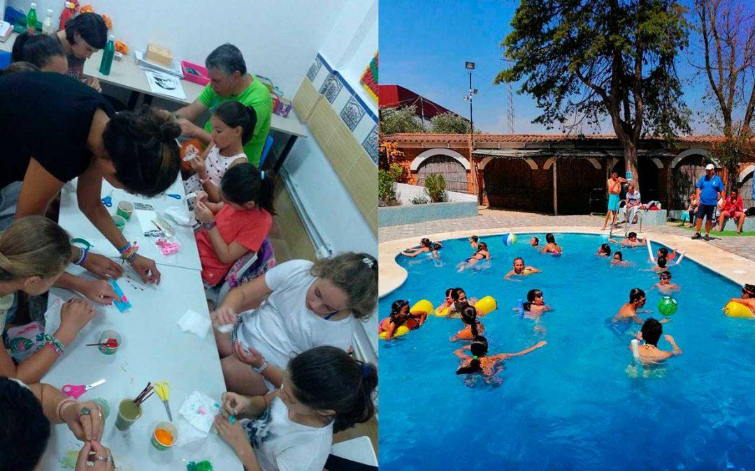 Jornadas de convivencia del Centro Ocupacional 'El Cristo Roto' y el campamento municipal de verano de Gibraleón
