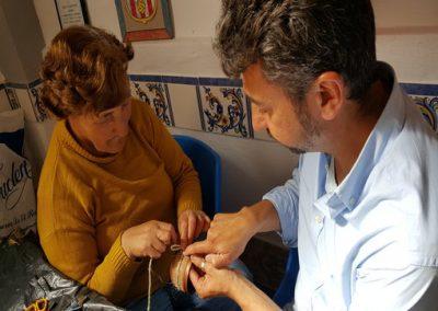 Ezequiel Carrasco taller de reciclaje creativo centro ocupacional El Cristo Roto