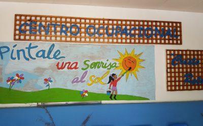 El Centro Ocupacional 'Cristo Roto' celebra unas jornadas culturales sobre medio ambiente en el entorno del Poblado Tartésico, bajo el título 'Píntale una sonrisa al sol'