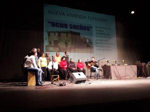 Actuación del Coro de Campanilleros del Centro Ocupacional El Cristo Roto en el teatro municipal de Valverde del Camino