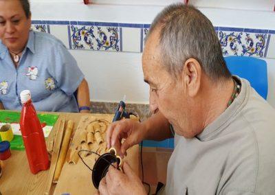 taller de reciclaje creativo centro ocupacional El Cristo Roto